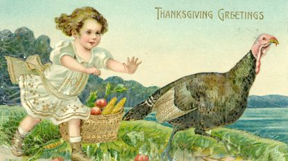 A Thanksgiving postcard, circa 1910, from the Historical Society of Carroll County's collection.