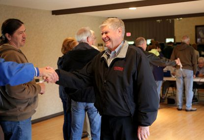 Republican state Sen. Jim Oberweis, seen here after casting his vote in the Nov. 4 election, saw Gov. Pat Quinn's veto of his truck speed limit bill overturned on Tuesday.