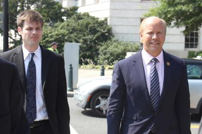 Rep. John Delaney, a Maryland Democrat, walks to the U.S. Capitol.