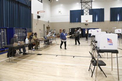 Votes are cast at Southern Middle School in Anne Arundel County.