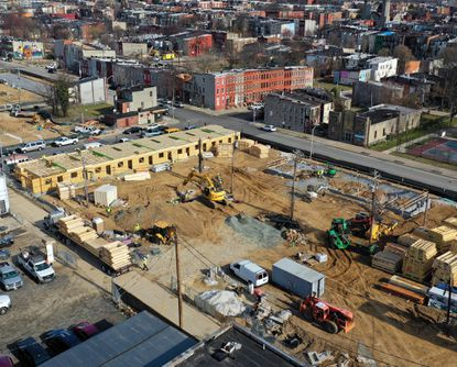 Nonprofit real estate developer The Community Builders Inc. is constructing the Marshall Gardens project, dozens of new townhouses and apartments on several blocks in Druid Heights and Upton.