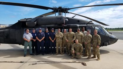 Two Harford County men were among the 13 who deployed Sunday to help rescue efforts in hurricane-ravaged parts of North Carolina.
