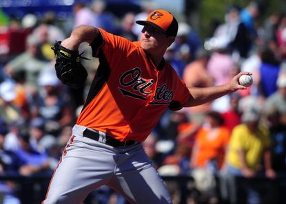 Orioles starting pitcher Zach Britton pitches against the Tampa Bay Rays last week.