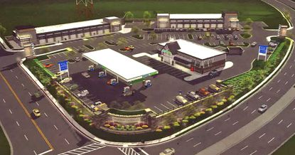 A rendering of the proposed Towson Gateway development at the intersection of York Road and Bosley Avenue, submitted in the application to David Marks In March of 2016.