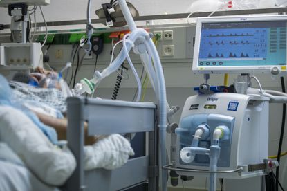An artificial respiratory equipment pictured at the intensive care unit at the Klinikum Bad Hersfeld hospital on March 20, 2020 in Bad Hersfeld, Germany.