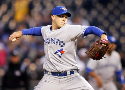 Veteran right-hander Dustin McGowan has worked as both a starter and reliever for the Toronto Blue Jays.