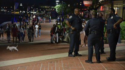 Officers deployed downtown from across the city as the crowd of youths swelled to more than 400 Saturday night.