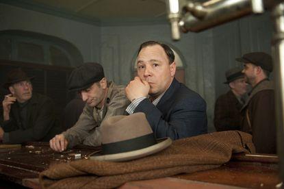 "Al Capone ponders for a moment on ""Boardwalk Empire."""