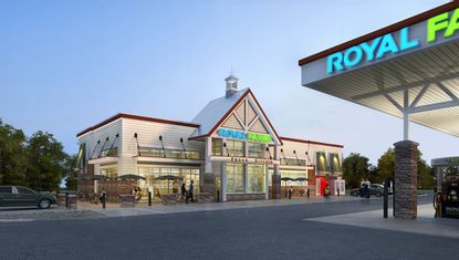 An artist's rendering of the proposed Royal Farms on the 5900 block of Harford Road in Hamilton.