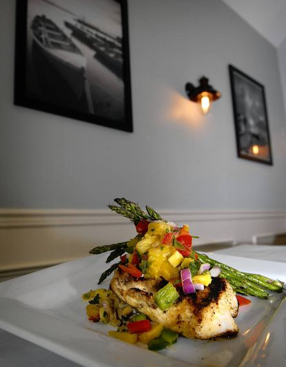 Rockfish -- the fish of the day -- at McFaul's IronHorse Tavern at Sanders Corner.