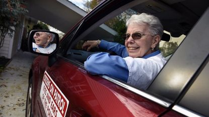 Towson Area Citizens On Patrol Inc. will be dissolved as two of its officers are retiring with no replacements. Pat France, 75, shown on Nov. 8, will be retiring as the organization's vice president.