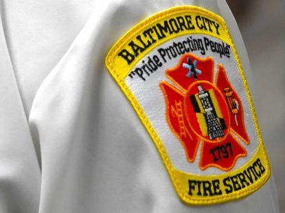 Baltimore City Fire Department patch. (Ulysses Muñoz/Baltimore Sun).