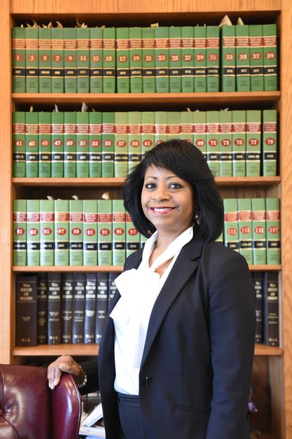 The Honorable Judge Angela Eaves at the Harford County Circuit Courthouse in Bel Air.