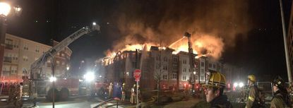 Three-alarm fire at apartments under construction in Rockville