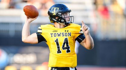 Towson quarterback Tom Flacco is one of 25 finalists for the STATS Walter Payton Award.