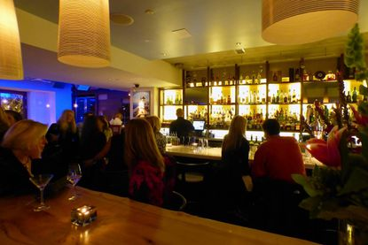 The ar scene at Ouzo Bay in Harbor East.