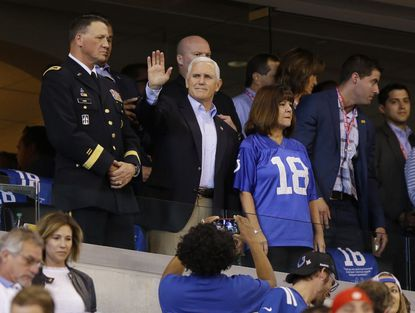 Vice President Mike Pence leaves 49ers-Colts game after players protest during anthem