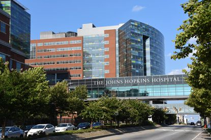 The Johns Hopkins Hospital sits at 1800 Orleans St in Maryland 7th congressional district.