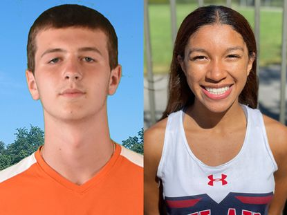 Loyola Blakefield's Jordy Eckman, left, and Bel Air's Elizabeth Pickett, right, are the Baltimore Sun high school Athletes of the Week for Sept. 20-25.