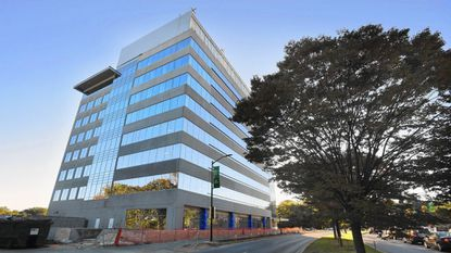 The headquarters building MedStar Health System in Columbia is one of many new constructions in the burgeoning downtown. As more development continues, officials hope a transportation management plan will help limit traffic congestion.