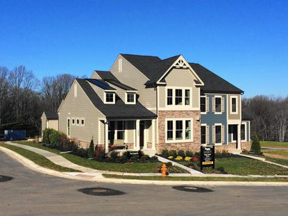 Model home at new Stoneleigh Summit development in Towson.