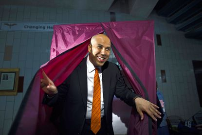 """Newark mayor and U.S. Senate candidate Cory Booker's """"so what if I am gay?"""" response to rumors about his sexuality has sparked some controversy in New Jersey."""