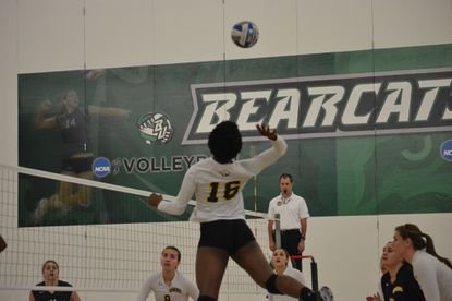 Krystal Mlemchukwu, who led UMBC in kills this season as a red-shirt junior, is a graduate of Western Tech. She earned a scholarship at UMBC after walking on her freshman year.
