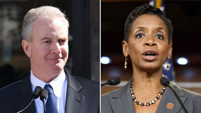 Rep. Donna F. Edwards , right has accused Rep. Chris Van Hollen of being open to cutting Social Security benefits . The Democrats are both running for Senate.