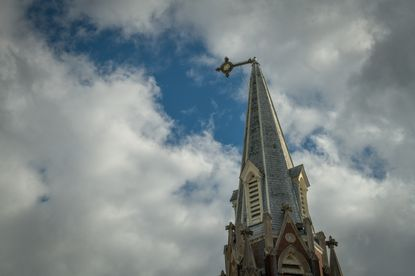 The cross on top of St Mary Star of the Sea Church will be restored with its beacon light.