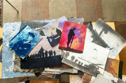 The Howard County Library System recently offered ART-illery, a class in making paper from old uniforms taught by Alexandria-based Torpedo Factory Art Center, as part of its yearlong series of veterans' initiatives. (Courtesy photo/Howard County Library System)