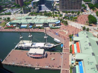Their wedding will be in the Inner Harbor because it's where Douglas Nivens and his fiance had their first date.