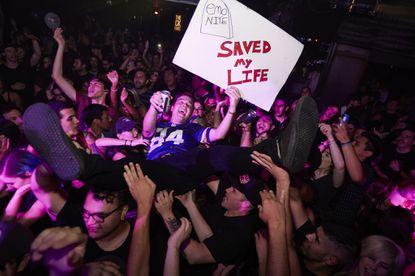 A fan crowd-surfs at Emo Nite L.A.