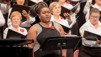 """Kayla Currie, a star last year at the Apollo Theater, will sing the Gershwin classic """"Summertime"""" with the Columbia Pro Cantare on Saturday."""