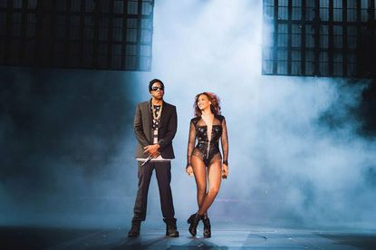 Jay Z and Beyonce on tour.