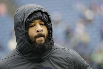 Ravens safety Earl Thomas warms up before a game against Seattle last season.