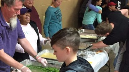 Pictured is the serving line at last year's Havre de Grace community Thanksgiving dinner. This year's dinner will be Thursday at the Havre de Grace Community Center on Lagaret Lane.