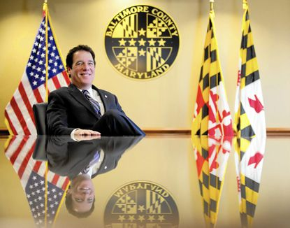 Baltimore County Executive Kevin Kamenetz poses for a photo in his office in Towson.