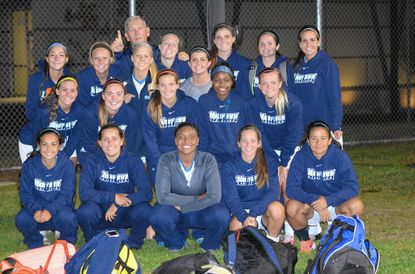 The Harford women's soccer team members are, front row from left, Rachel Rivera, Emily Naff, Taylor Smith, Natalie Decker and Kelsey Pena; middle row from left, Brooke Nigrin, Morgan Kaseman, Jessica Smith, Faith Edmondson and Brooke Tauber; and back row from left, Ivy Chlan, Savannah Humphreys, Karley Bush, Evie Powell, Ashley King, Angela Kuhn, Nicole Wojcik, Lauren Vesely and assistant coach Jerry Kremer.
