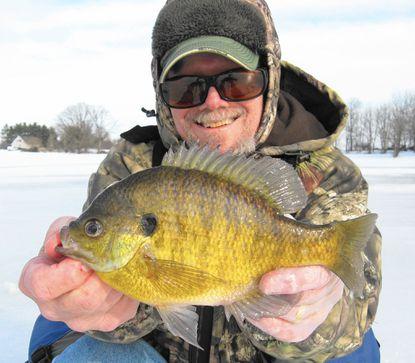 An ice fishing fling