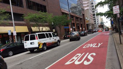 A new law increased the fines for parking in a bus lane or in front of a bus stop to $250 beginning Sept. 1. But the city has not been able to update their paper or electronic citations to reflect the higher fine.
