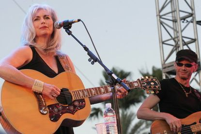 Emmylou Harris performs at the Stagecoach Country Music Festival in Indio, Calif., in 2007