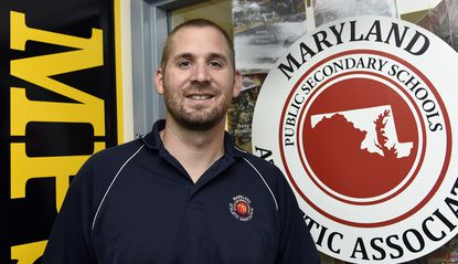 Andy Warner, the executive director of the Maryland Public Secondary Schools Athletic Association, is entering his second year on the job.