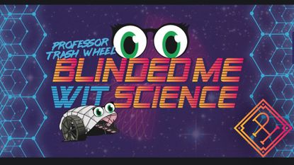 The artwork for Professor Trash Wheel Blinded Me Wit Science, a new beer from Peabody Heights Brewery.