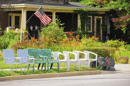 Lines of empty chairs began showing up on Frederick Road last week as fans marked their viewing sports for the annual Fourth of July Parade in Catonsville.