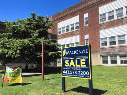 Just months after receiving the property from Harford County, the City of Aberdeen has put the old high school building on Route 40 up for sale.