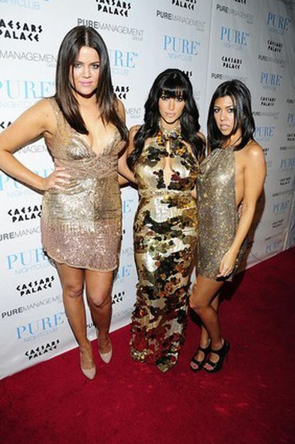 The Kardashians -- Khloe, Kim and Kourtney -- were not heading out on a recruiting trip to snag another prospect, just arriving at a New Year's party.