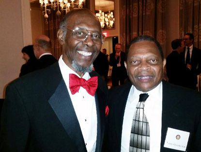 Harford County resident William B. Allen, left, is the 16th recipient of the prestigous Hery Salvatori Prize that recognizes distinguished contributions to conservative political thought. He is with his longtime friend and grade school classmate Louis Quarterman at the prize award dinner in Philadelphia on Nov. 8.
