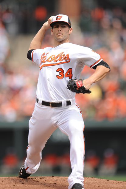 Jake Arrieta lasted just 3 2/3 innings, giving up 10 hits and seven runs in the Orioles' 9-8 loss to the Tampa Bay Rays.