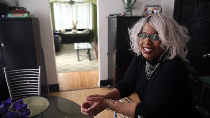 Antionette Wonsey, who has rented spaces on Airbnb for the last few years, is photographed in May in her Englewood home. A Purdue University study found Airbnb rentals did not have a statistically significant effect on restaurant jobs in Chicago. Airbnb says the study is flawed.