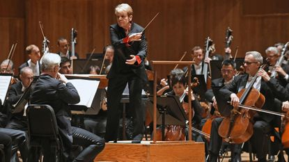 Music director Marin Alsop leads the Baltimore Symphony Orchestra in a concert last year shortly before leaving for a United Kingdom and Ireland tour.